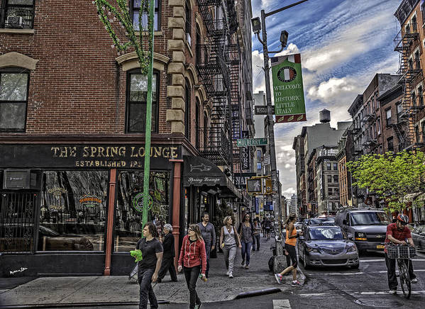 People Poster featuring the photograph Spring And Mulberry - Street Scene - Nyc by Madeline Ellis