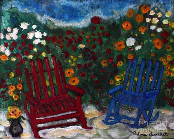 Spring Scenery Poster featuring the painting Spring Memories by Louise Burkhardt