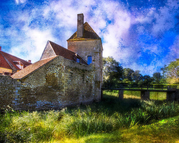 Barn Poster featuring the photograph Spring Romance In The French Countryside by Debra and Dave Vanderlaan