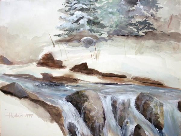 Rick Huotari Poster featuring the painting Springtime by Rick Huotari