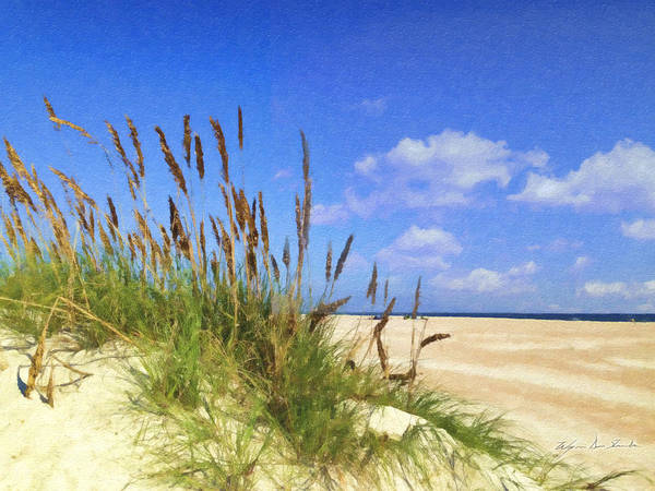 Beach Poster featuring the painting St Augustine Beach Grass by Wynn Davis-Shanks