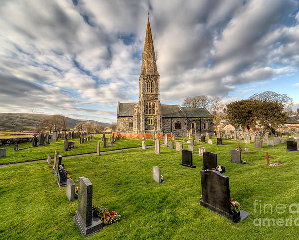 Arch Poster featuring the photograph St Beuno Church by Adrian Evans