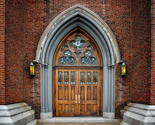 Church Door Photography Poster featuring the photograph St. John The Evangelist Roman Catholic Church by Steven Michael