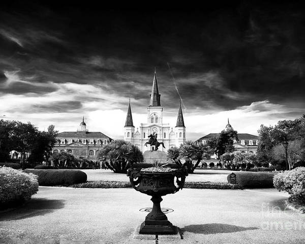 New Orleans Poster featuring the photograph St. Louis Cathedral by John Rizzuto
