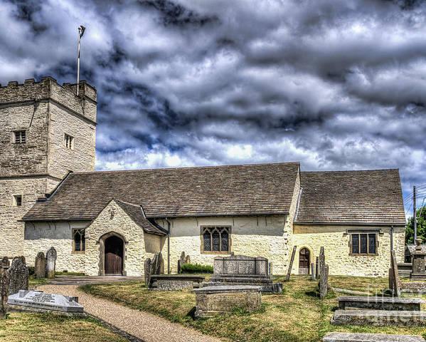 St Sannans Church Poster featuring the photograph St Sannans Church Bedwellty 3 by Steve Purnell