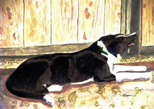 Border Collie Poster featuring the painting Stable Duty by Angela Davies