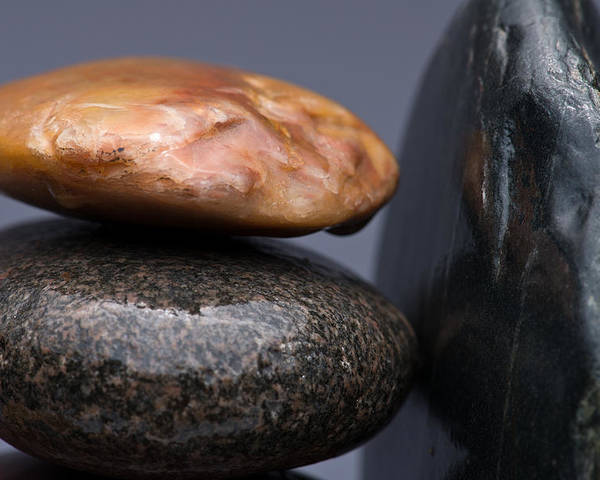 Pebble Poster featuring the photograph Stacked Stones 3 by Steve Gadomski