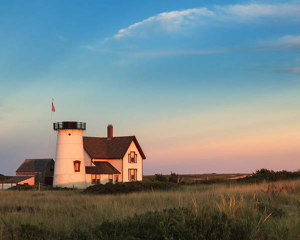 Cape Cod Poster featuring the photograph Stage Harbor Lighthouse by Bill Wakeley