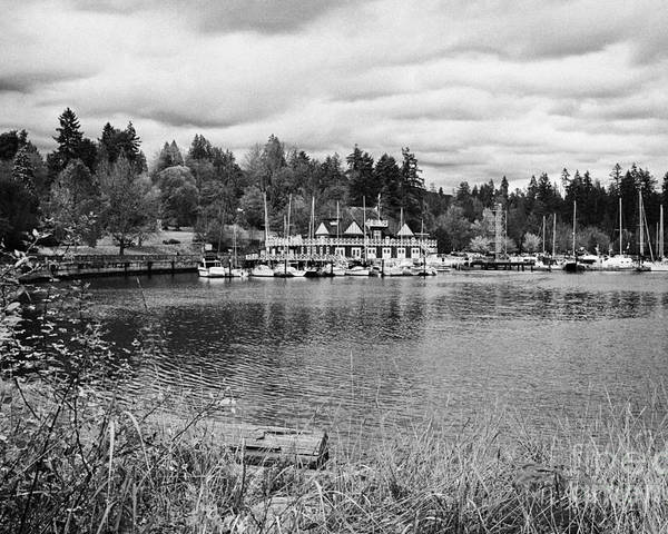 Stanley Poster featuring the photograph stanley park coal harbour and Vancouver rowing club marina BC Canada by Joe Fox