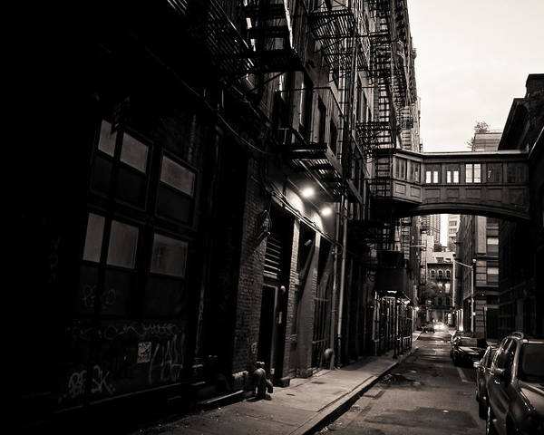 New York City Poster featuring the photograph Staple Street - Tribeca - New York City by Vivienne Gucwa