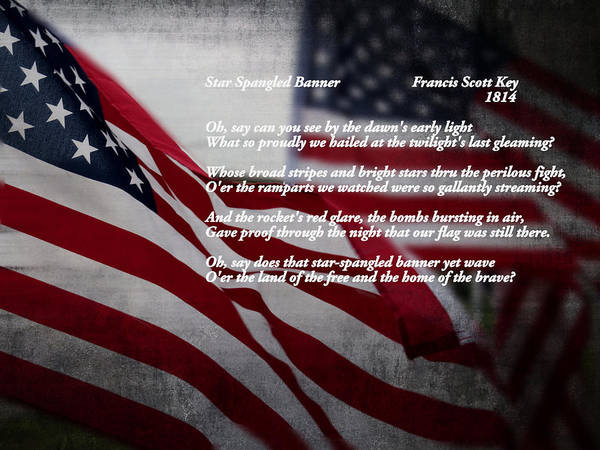 American Poster featuring the photograph Star Spangled Banner by Ella Kaye Dickey