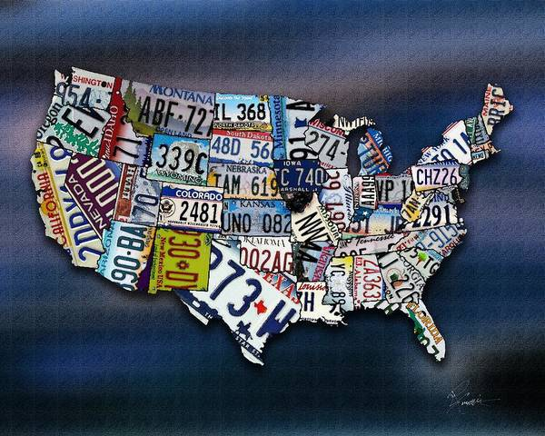 New Hampshire Poster featuring the digital art States by Robert Smith