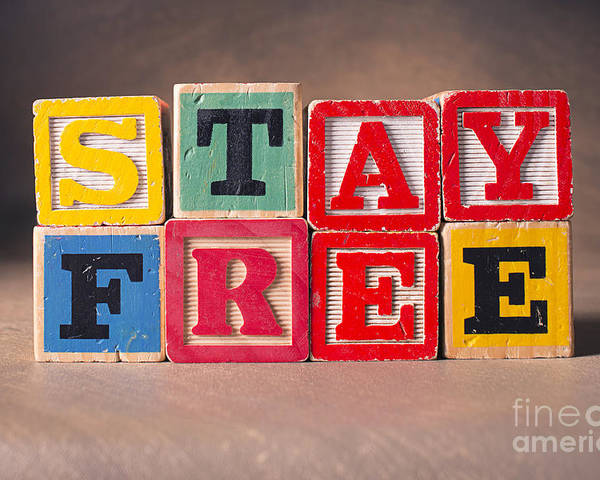 Stay Free Poster featuring the photograph Stay Free by Art Whitton
