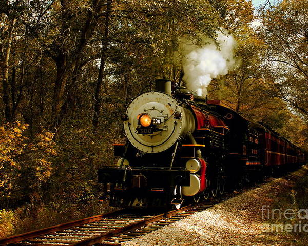 Transportation Poster featuring the photograph Steam Engine No. 300 by Robert Frederick