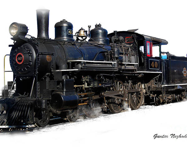 Steam Poster featuring the photograph Steam Locomotive by Gunter Nezhoda