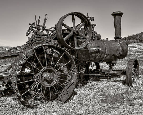 Steam Poster featuring the photograph Steam Tractor - Molson Ghost Town by Daniel Hagerman