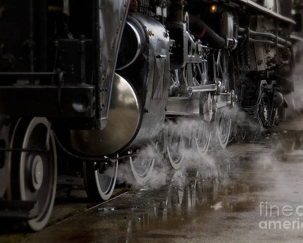 Train Poster featuring the photograph Steam Wheels by Dennis Hedberg