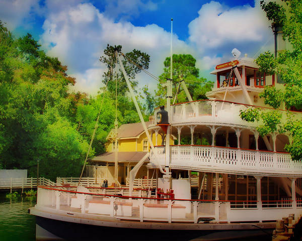 Hdr Poster featuring the photograph Steamboat Hdr by Thomas MacPherson Jr