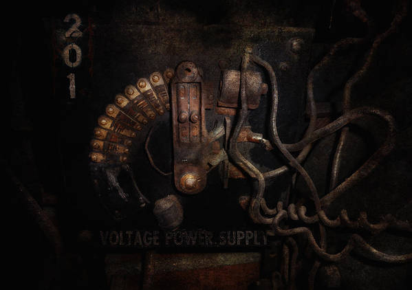 Hdr Poster featuring the photograph Steampunk - Electrical - Rotary Switch by Mike Savad