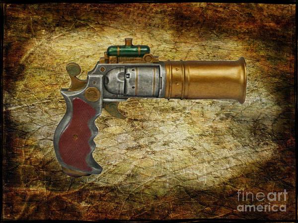Paul Ward Poster featuring the photograph Steampunk - Gun - The Ladies Gun by Paul Ward