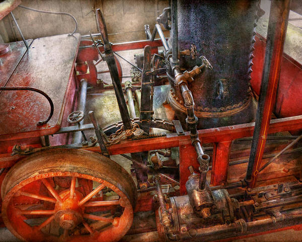 Savad Poster featuring the photograph Steampunk - My Transportation Device by Mike Savad