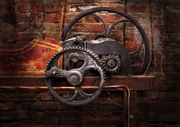 Hdr Poster featuring the digital art Steampunk - No 10 by Mike Savad
