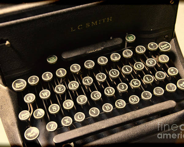 Steampunk Poster featuring the photograph Steampunk - Typewriter - The Age Of Industry by Paul Ward