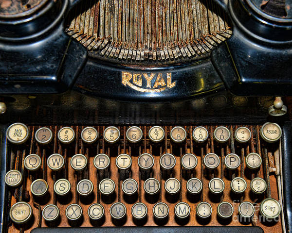 Paul Ward Poster featuring the photograph Steampunk - Typewriter -the Royal by Paul Ward