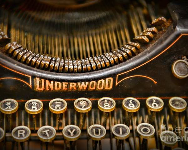 Paul Ward Poster featuring the photograph Steampunk - Typewriter - Underwood by Paul Ward