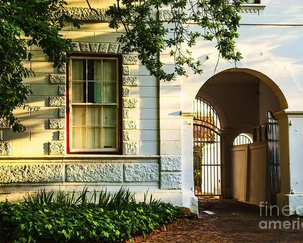 South Africa Poster featuring the photograph Stellenbosch Gate by Rick Bragan