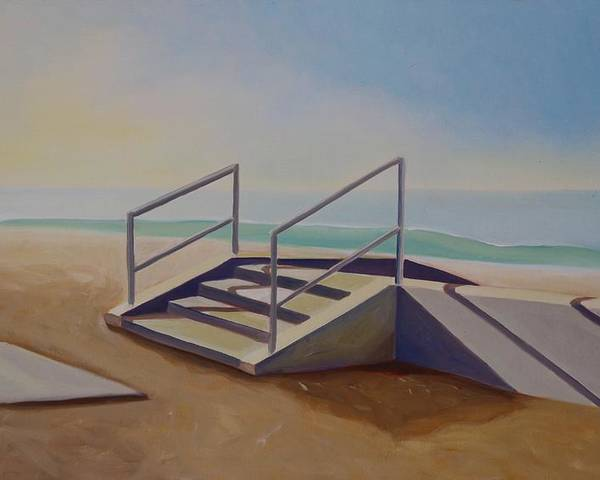 Steps Poster featuring the painting Steps To Beach by Lety Garcia