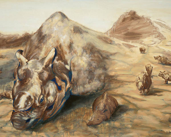 Rhino Poster featuring the painting Still Life by Sarah Soward