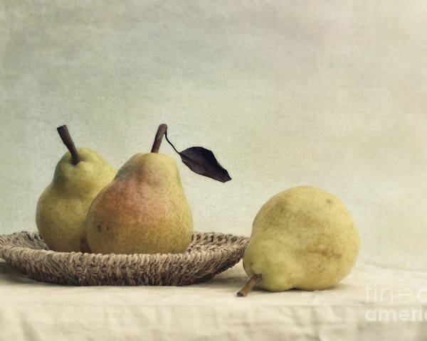 Pear Poster featuring the photograph Still Life With Pears by Priska Wettstein