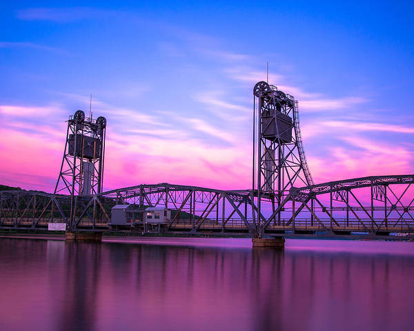Landscape Poster featuring the photograph Stillwater Lift Bridge by Adam Mateo Fierro