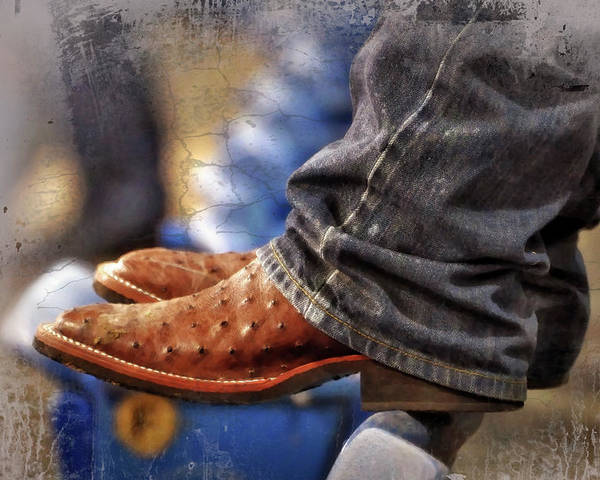 Adult Poster featuring the photograph Stockshow Boots IIi by Joan Carroll