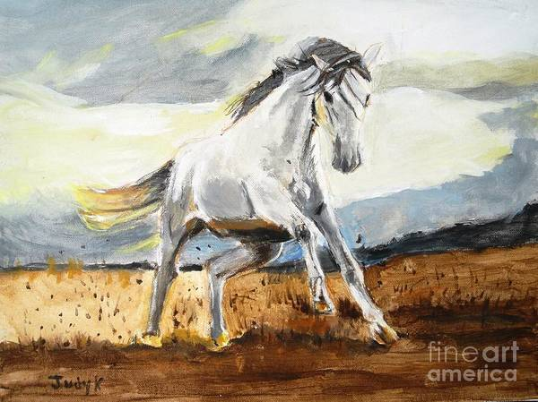 Horses Poster featuring the painting Stomping Ground by Judy Kay