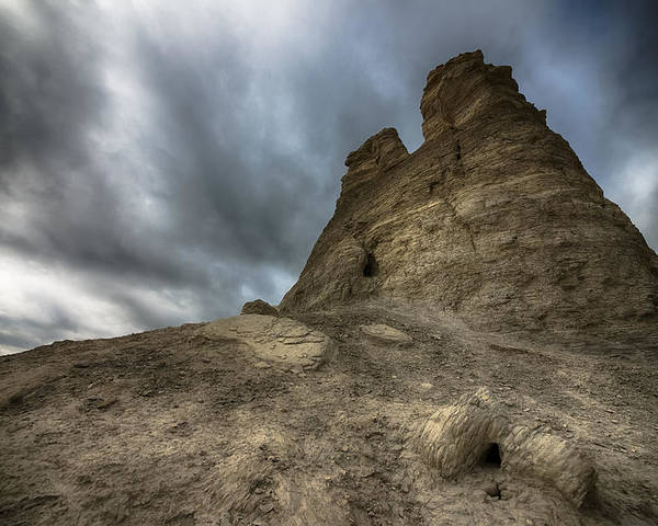 Desert Rock Formations Poster featuring the photograph Stone Tower by Garett Gabriel