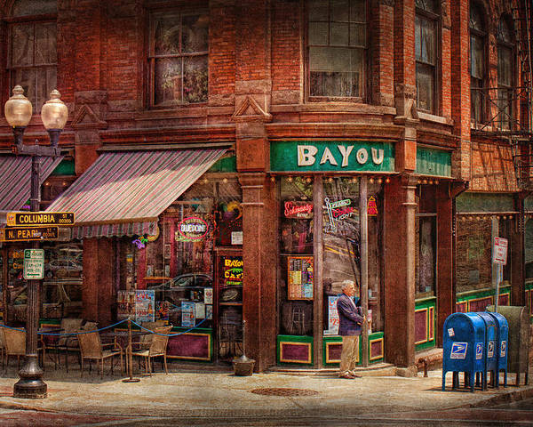 Pearl St Poster featuring the photograph Store - Albany Ny - The Bayou by Mike Savad