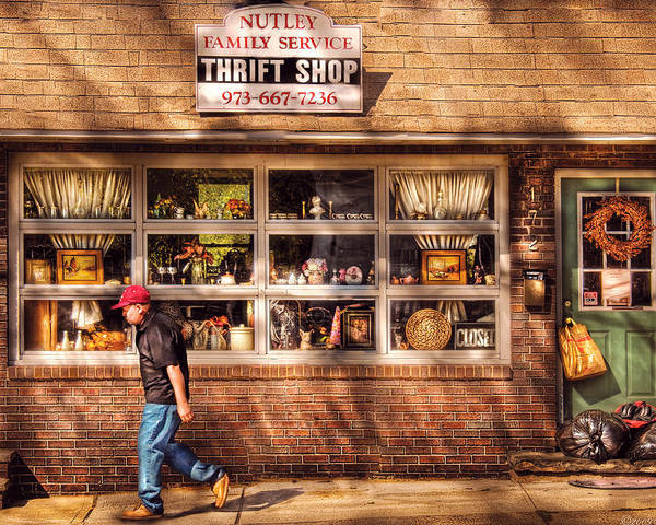 Savad Poster featuring the photograph Store - The Thrift Shop by Mike Savad