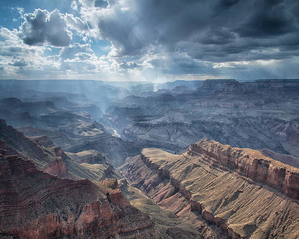 Usa Poster featuring the photograph Storm At The Canyon by Christian Heeb