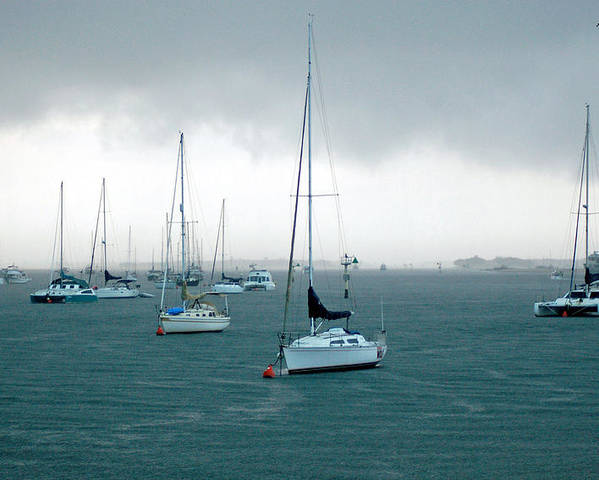 Boat Poster featuring the photograph Storm Coming by Adriana Crosse