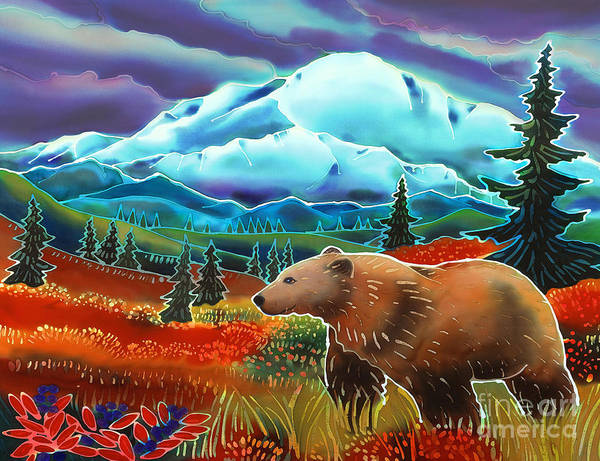 Bear Poster featuring the painting Storm Coming by Harriet Peck Taylor