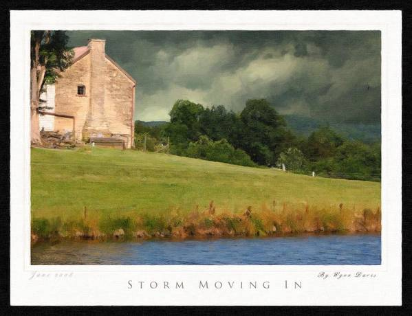 Landscape Poster featuring the painting Storm Moving In by Wynn Davis-Shanks