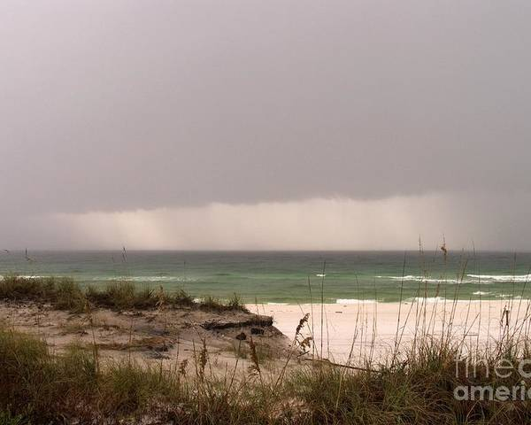 Beach Poster featuring the photograph Storm Offshore At Destin Florida by John Harmon