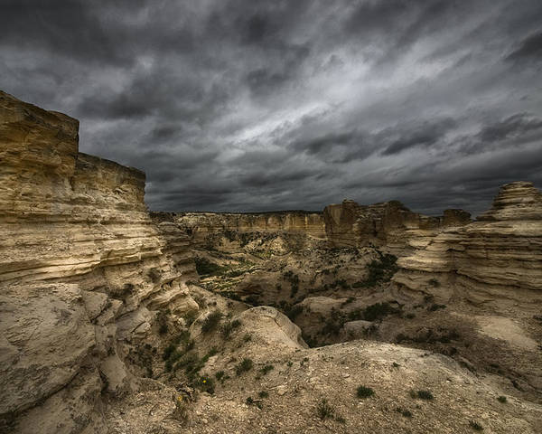 Clouds Poster featuring the photograph Storm On The Plains by Garett Gabriel