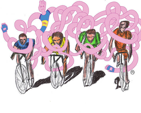 Bicycle Poster featuring the drawing Storm Rider-me Vs Me By Will A.k by Willhemus Ardylles