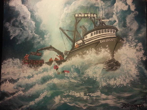 Boats Poster featuring the painting Storm Warning--f/v Endurant by Robert Tarrant