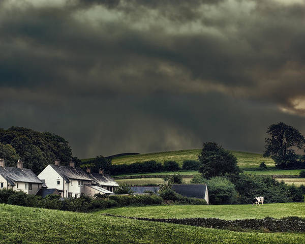 Rural Poster featuring the photograph Stormy Hamlet by Amanda Elwell