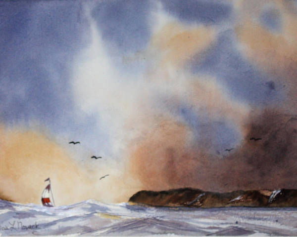 Sealscape Poster featuring the painting Stormy Sea by Patricia Novack