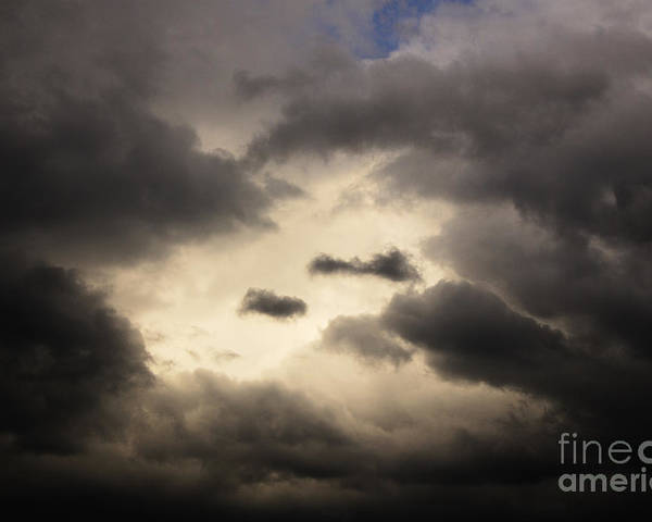 Black Poster featuring the photograph Stormy Sky With A Bit Of Blue by Thomas R Fletcher